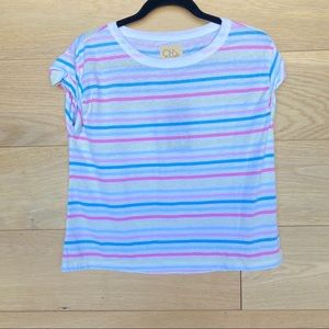 Chaser Multicolored Cap Sleeve Top NWT